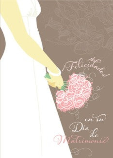 Spanish Greeting Card- Dia de Matrimonio