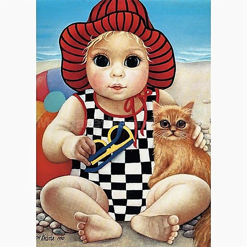 Seaside Sue - Margaret Keane Greeting Card and Envelope