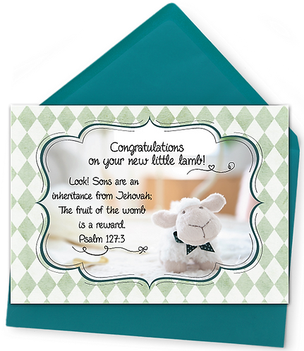 New Baby Greeting Card and Envelope