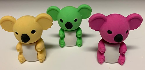 Animal Erasers-Koalas, Polar Bears