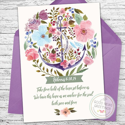 Firm Hold of the Hope Greeting Card