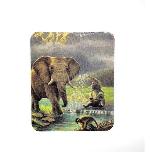 Elephants & Monkey FRIDGE MAGNET