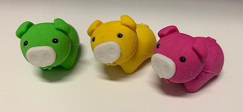 Animal Erasers- Pigs, Whales