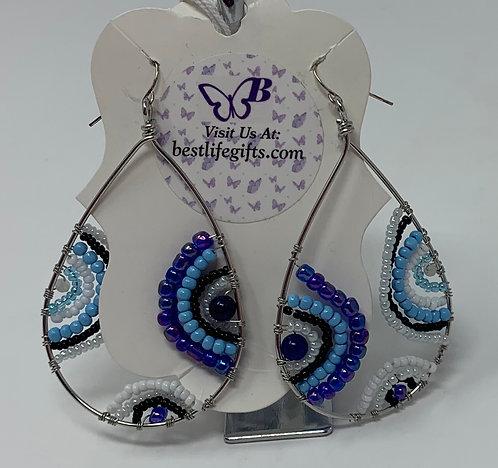 Long Glass Bead Earrings