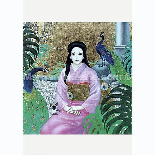 Madam Butterfly - Margaret Keane Greeting Card and Envelope
