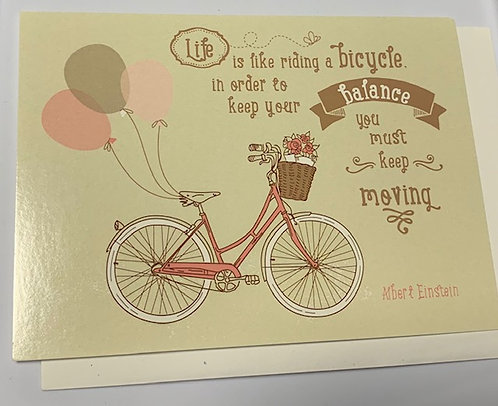 'Life Is Like Riding A Bicycle' GreetingCard