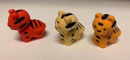 Animal Erasers- Tigers, Elephants