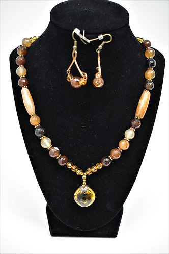 Handmade Jewelry Combo – Agate and Glass on Copper