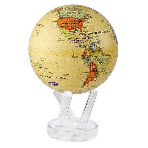 Political Map Yellow - MOVA Globe