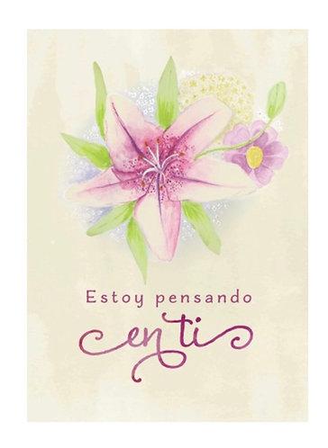 Spanish Card- Estoy pensando en ti