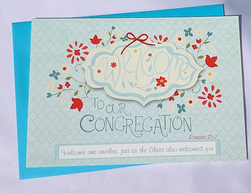 Welcome to Congregation Card with Envelope