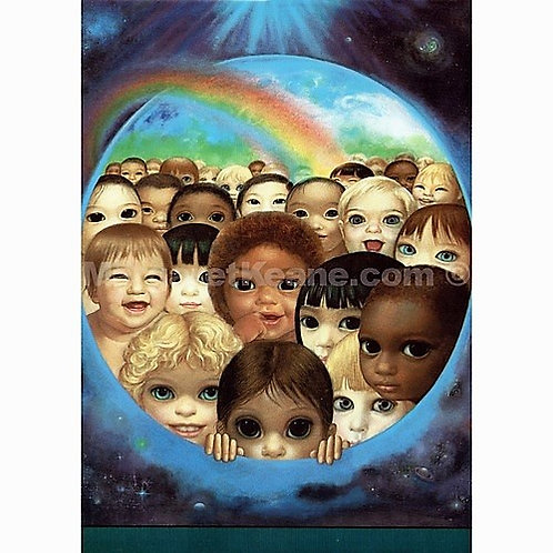 Tomorrow's Future - Margaret Keane Greeting Card and Envelope
