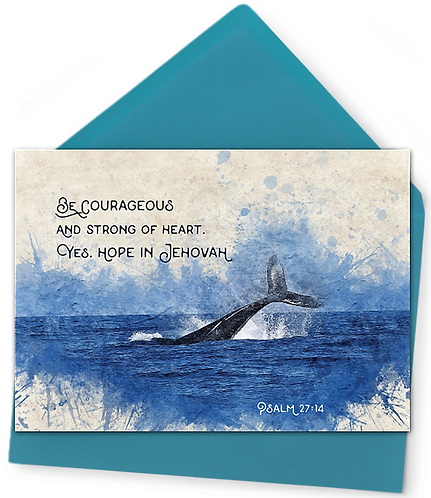 Be Courageous! Greeting Card and Envelope
