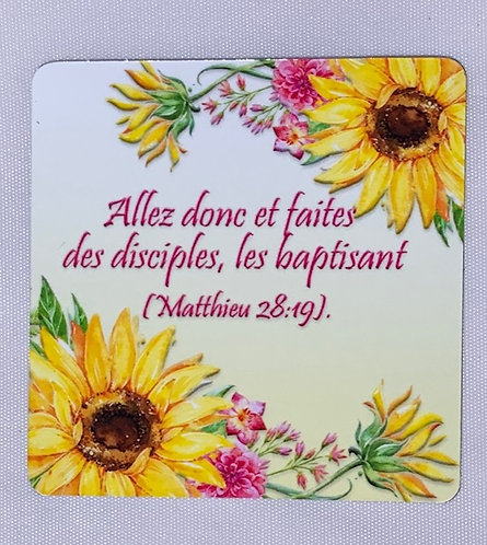 Matthew 28:19 Scripture Magnet (French)