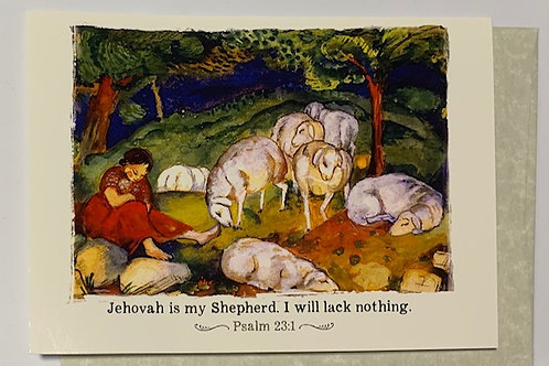 """""""Jehovah is my Shepherd"""" Greeting Card"""
