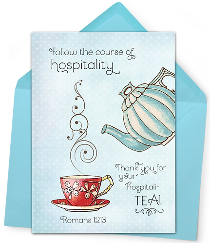 Hospitality Greeting Card and Envelope