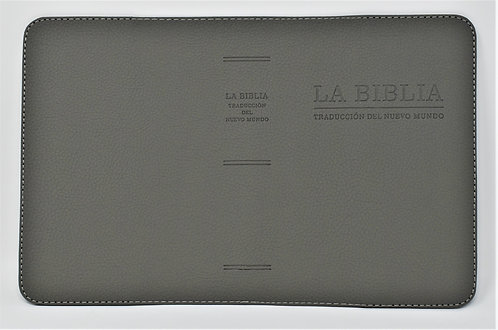 Hand Made Bible Cover – Dark Gray - Spanish