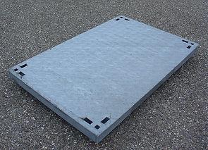 Tampon telecom acier galvanisé L1T pour chambre de tirage