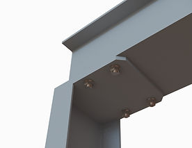 Détail platine haute pour portique métallique