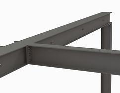Détail d'assemblage de portique composé pour renfort structurel