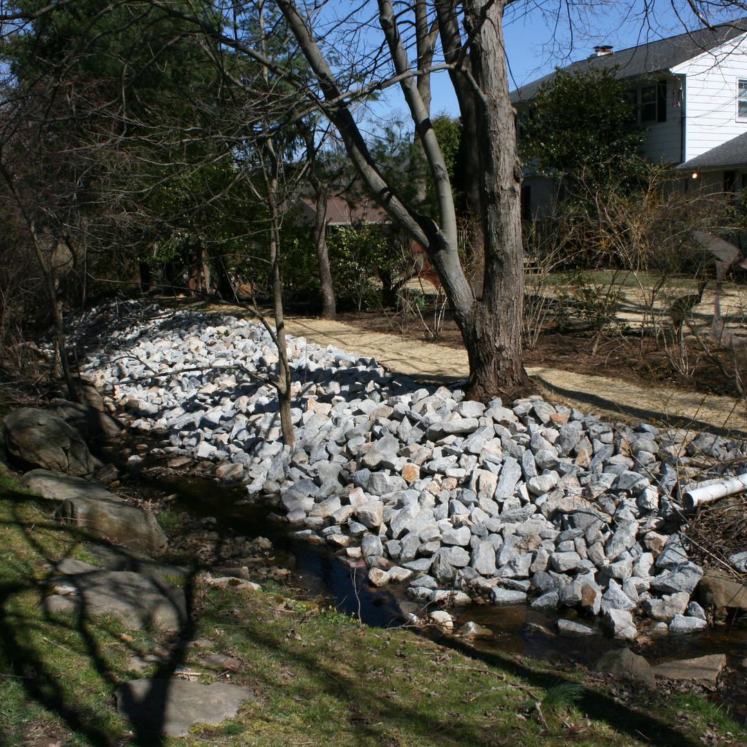 backyard riprap for erosion control Ston