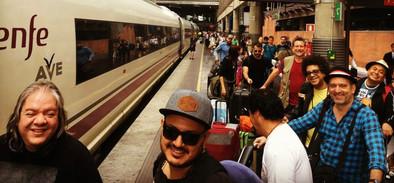 Boarding the bullet train, Madrid