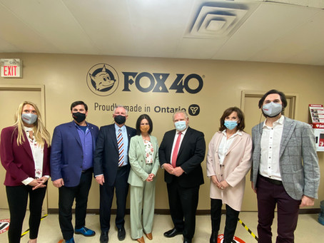 Fox 40 Welcomes Premier Ford and MPP Skelly