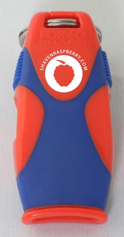 Imprinted_Sharx_Orange+Blue_Front_ShavenRaspberry_bg