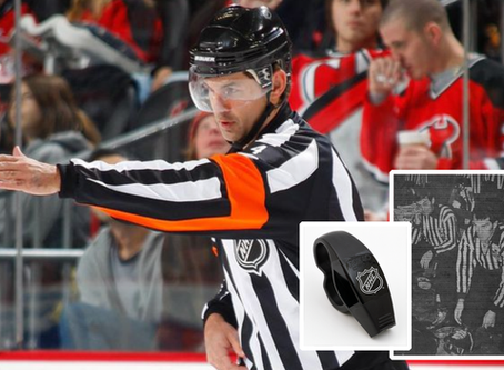 Special Fox 40 whistle named for his father being used by referee in NHL's return to action