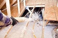 Attic insulation replacement