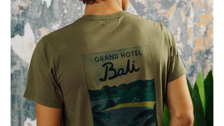 T-shirt Blanc Bali kaki- Cuisse de Grenouille