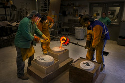 Pouring Bronze