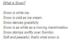 Snow Poems by Y3/4