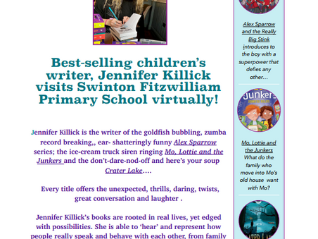 KS2 are counting down to their Meet with author, Jennifer Killick