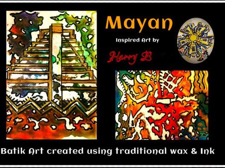 Mayan-themed Batik by Harry B