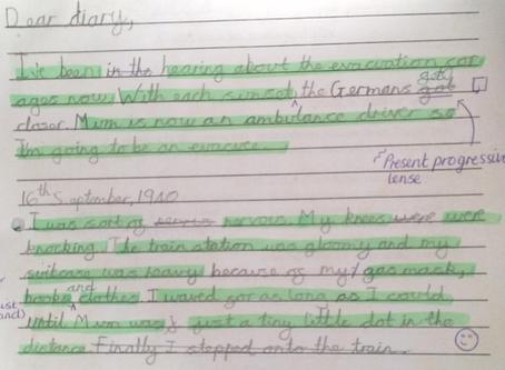 Wonderful Writing as WWII Evacuees from Y5/6