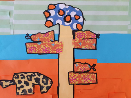 Collages in the style of Romero Britto by our brilliant Y3/4 pupils