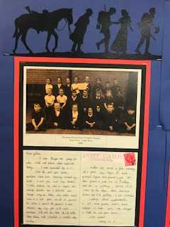 Our wonderful display to commemorate Armistice 100