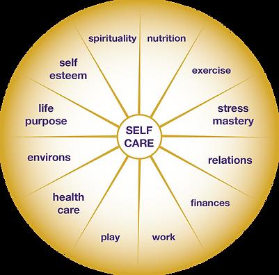 Circle graph of Self Care