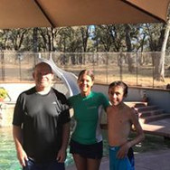 Kassy Clifford with swim clients