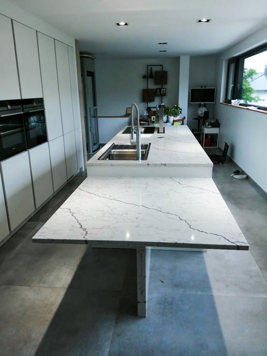 Plan de travail marbre