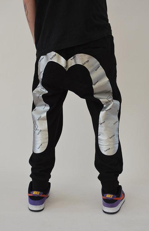 EVISU SILVER SEAGULL SWEAT PANTS (L)