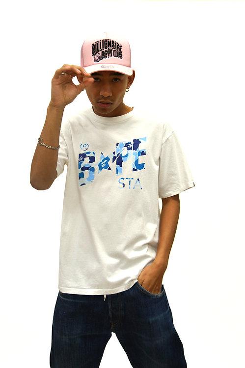 BAPE STA BLUE ABC T SHIRT (L)