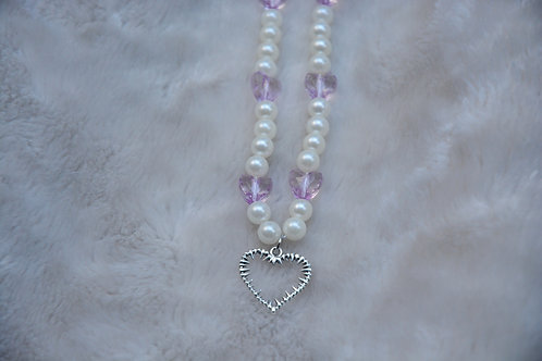 PEARLY BBY HEART NECKLACE (42CM)