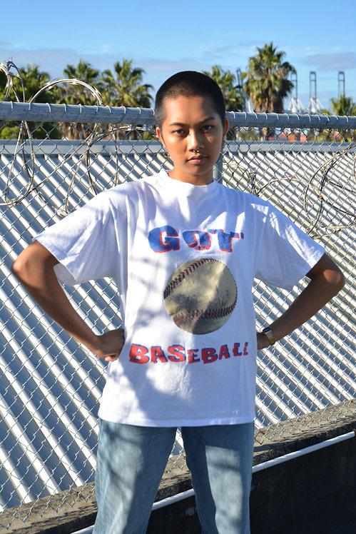 VINTAGE 'GOT BASEBALL' TEE (M)