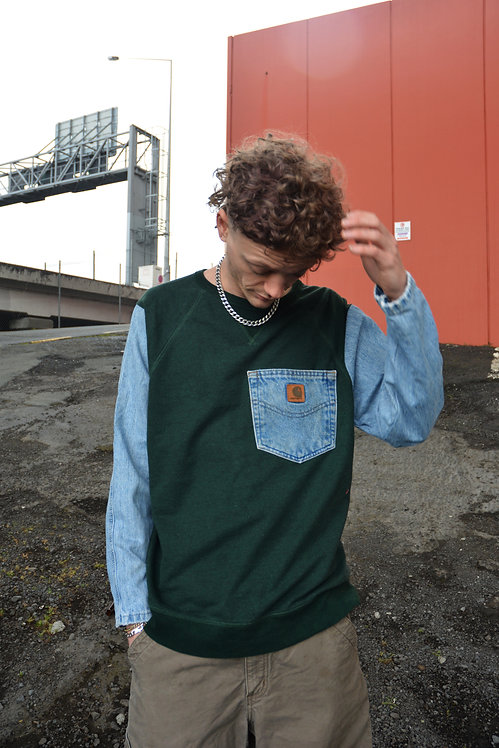 REWORKED VINTAGE CARHARTT SWEATER (L)