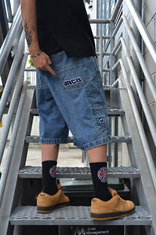 "VINTAGE JNCO CARPENTER DENIM SHORTS (36"")"