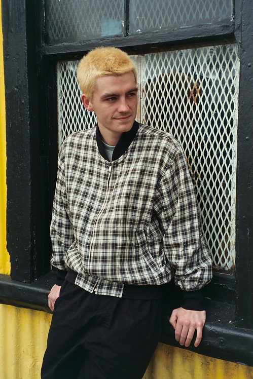 90'S BOOTLEG YSL CHECKED JACKET (L)