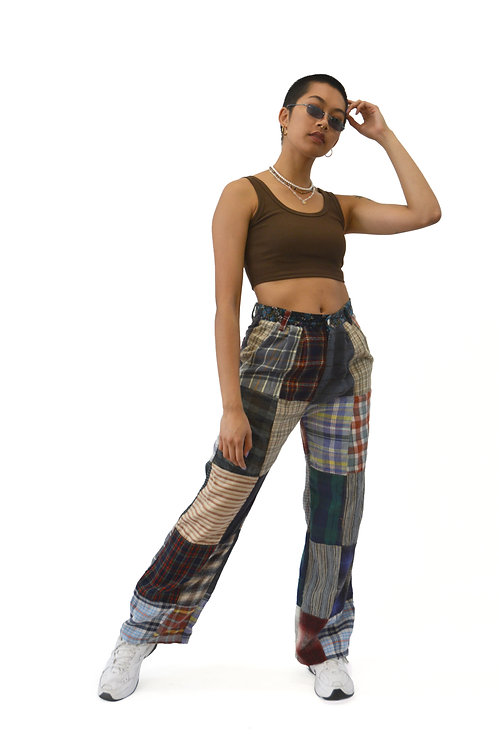 """REWORKED PATCHWORK PANTS (29"""")"""