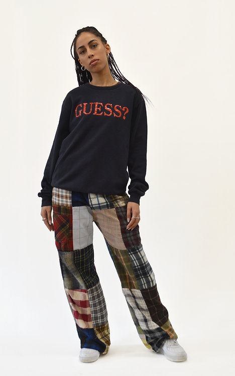"""REWORKED PATCHWORK PANTS (31"""")"""